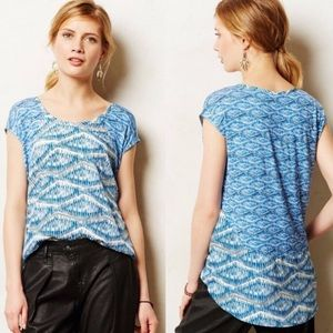 Anthropologie Akemi + Kin Meuse Blue Hi-Lo Top XS